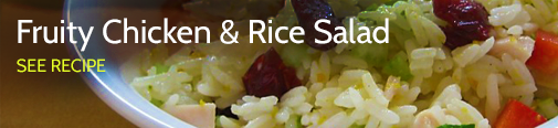 Fruity Chciken and rice salad