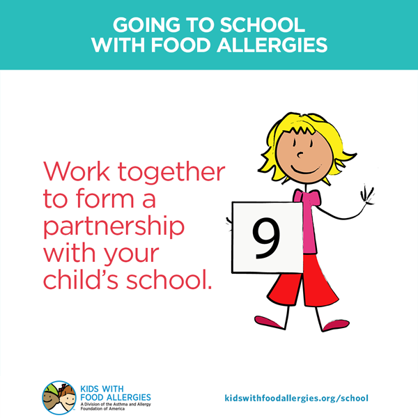 work together to form a partnership with your child's school