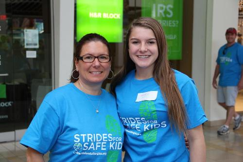 volunteers at Philly strides events
