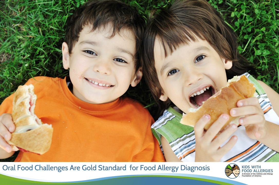 Oral food challenges are gold standard for food allergy diagnosis