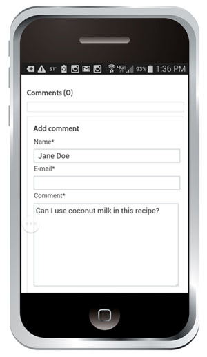 Ask questions or post comments at the bottom of recipes