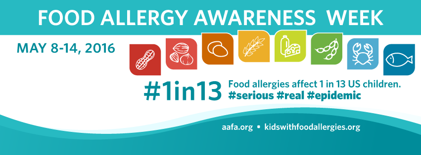 #1in13 US children have a food allergy - including mine