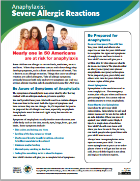 Severe Allergic Reactions