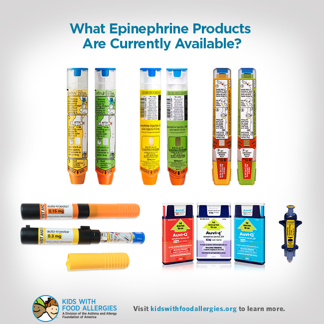 epinephrine products are currently avilable