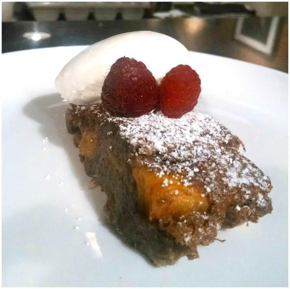 Chef Luca's Peach and Banana Cake