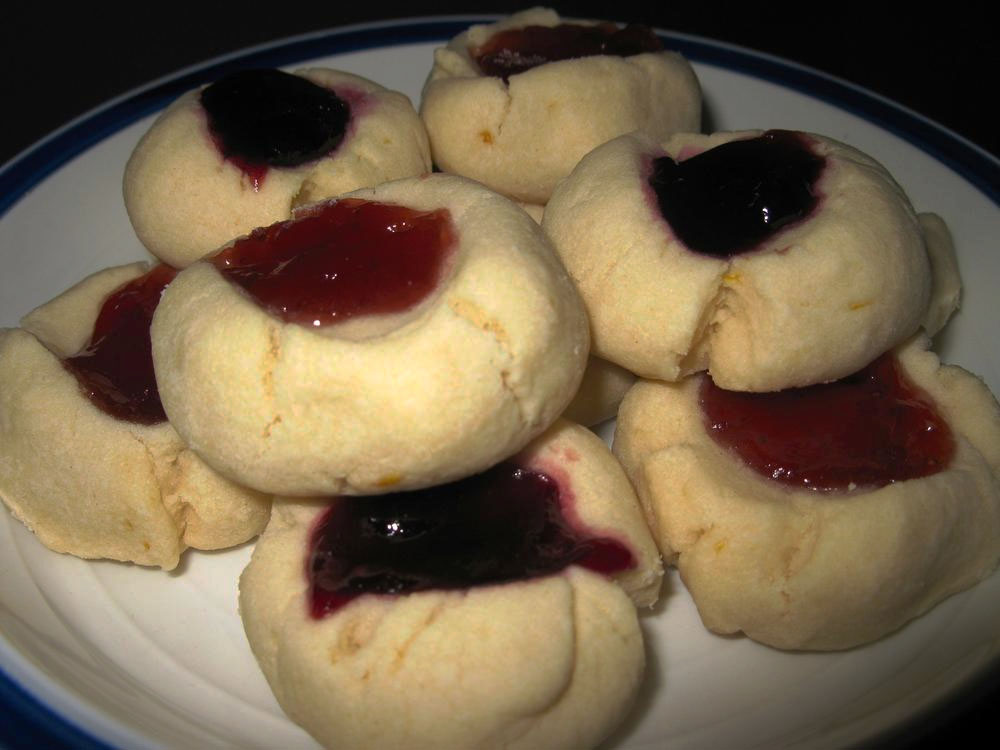 Passover Thumbprint Cookies